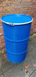 120 liter dekselvat blauw