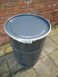 60 liter dekselvat donkergrijs