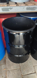 200 liter dekselvat zwart coating