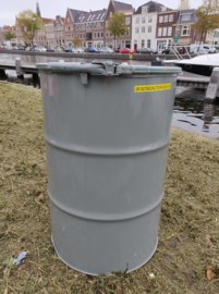 200 liter dekselvat betonlook (gebruikt)