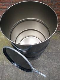 200 liter dekselvat zwart