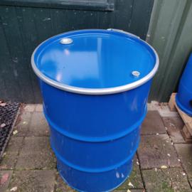 200 liter dekselvat blauw