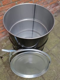 60 liter dekselvat zwart