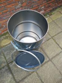 60 liter dekselvat donkergrijs (HT)