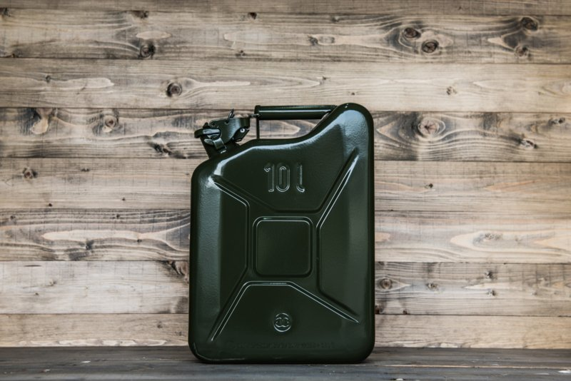 10 liter jerry can staal (groen)