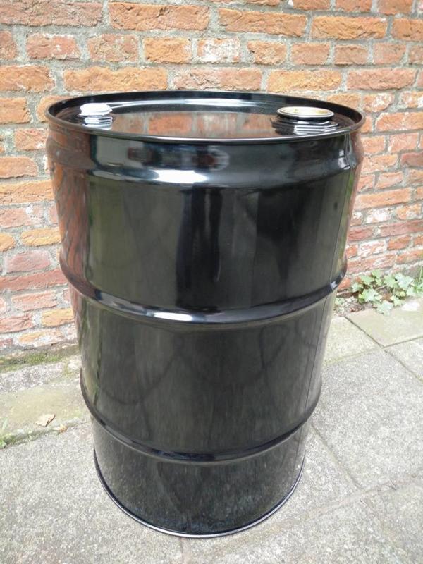 60 liter olievat zwart