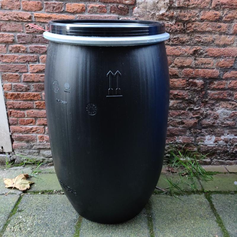 120 liter plastic zwart vat nieuw