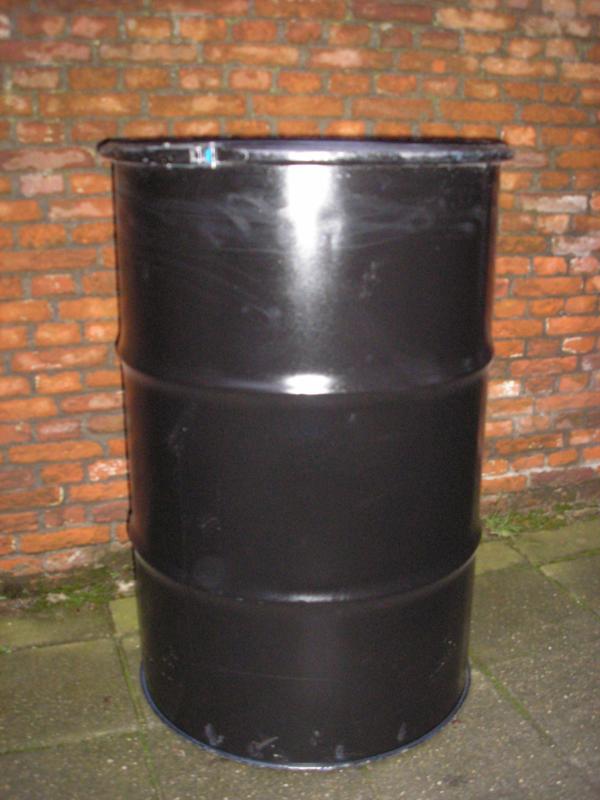 200 liter dekselvat (gebruikt)