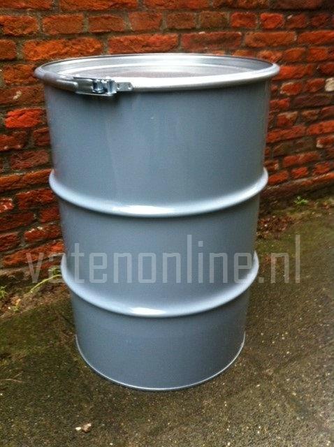 60 liter dekselvat grijs