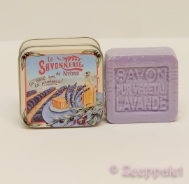 Zeep in blik, Lavende, savon de Marseille