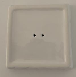 Vierkant zeepschaaltje