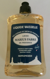 Afwasmiddel op basis van Marseille zeepvlokken met de geur van grapefruit.