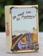 Gastenzeepje, lavende, in een nostalgisch doosje