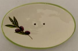 Ovaal zeepschaaltje, met een olijven takje