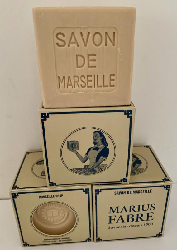 Blok Marseille Zeep 400 gram, naturel, zonder palmolie!