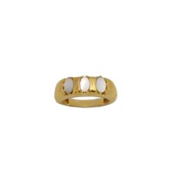 Vintage mother of pearl ring goud