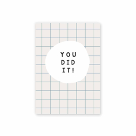 "Kaart ""You did it"""