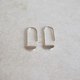 Paperclip oorbellen zilver