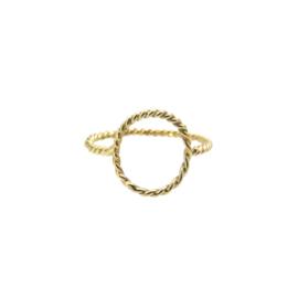 Turn around ring 14 karaat goud
