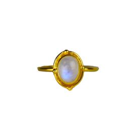 Moonstone fever ring goud