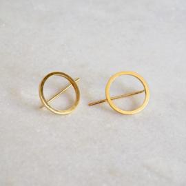 Circular groot oorbellen goud