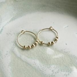 Gatsby oorbellen goud