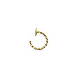 Baby helix oorbel 14 karaat goud