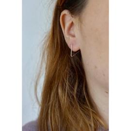 Triangle oorbellen zilver