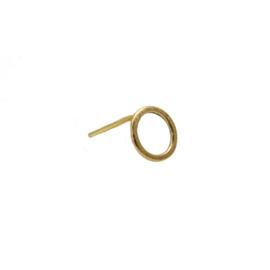 Disc oorknopje 14 karaat goud