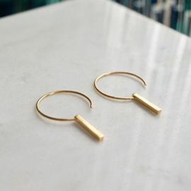 Cirkel oorbellen goud