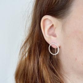 Circular groot oorbellen zilver