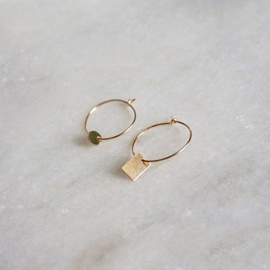 Simpel oorbellen goud