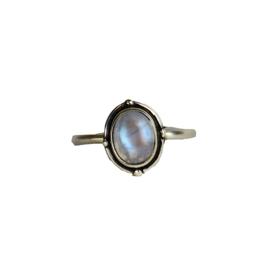 Moonstone fever ring zilver
