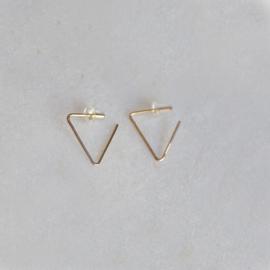Triangel oorbellen goud