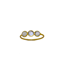 Moonstone rounds ring goud