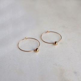 Dot hoops oorbellen goud