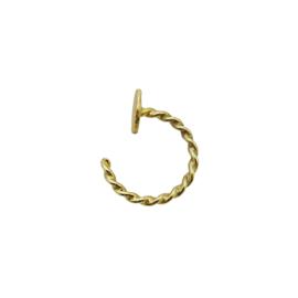 Helix oorbel 14 karaat goud