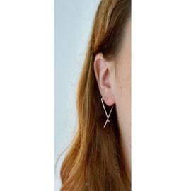 Stance oorbellen goud