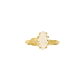 Moonstone marquise ring goud
