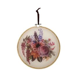 Illustratie in borduurring bloemen