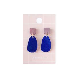 Oorbellen paars-blauw