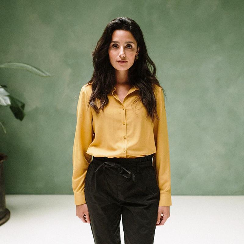 Maya blouse oker J-lab3l