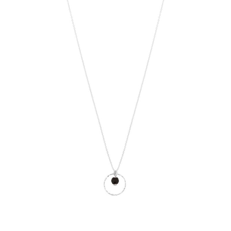 Korte ketting zwarte onyx