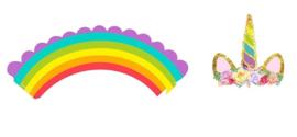 Cupcake cups rainbow