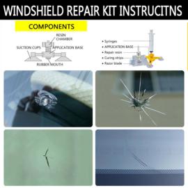 2 x Doe-het-zelf autoruit reparatie kit professional