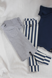 T-shirt -  MINI STRIPES B/W