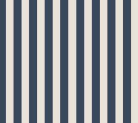 Organic Jersey - STRIPES DARK BLUE/ CREAM