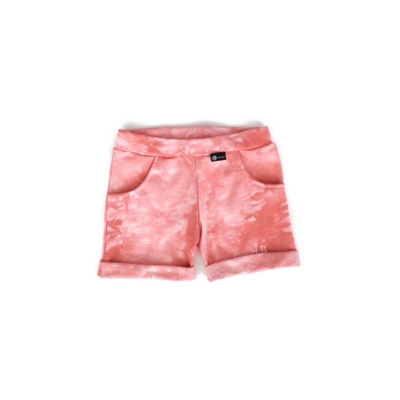 Shorts - TIE DYE PEACH