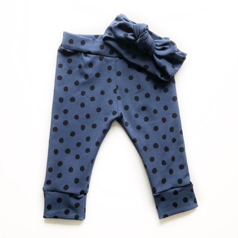 Leggings - SPOTTY BLUE incl. haarband