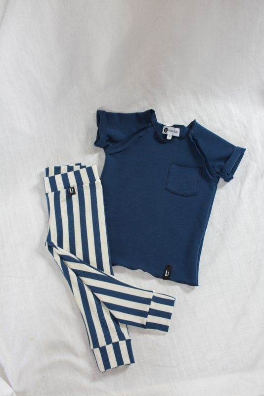 Leggings - STRIPEY NAVY BLUE